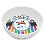 Transportation & Stripes Melamine Bowl 8oz (Personalized)