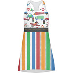 Transportation & Stripes Racerback Dress (Personalized)