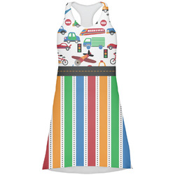 Transportation & Stripes Racerback Dress (Personalized)