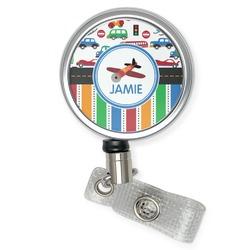 Transportation & Stripes Retractable Badge Reel (Personalized)