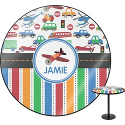 Transportation & Stripes Round Table (Personalized)