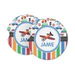 Transportation & Stripes Sandstone Car Coasters (Personalized)