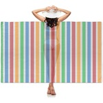 Transportation & Stripes Sheer Sarong (Personalized)
