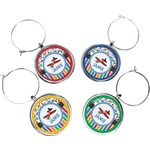 Transportation & Stripes Wine Charms (Set of 4) (Personalized)
