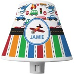 Transportation & Stripes Shade Night Light (Personalized)