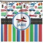 Transportation & Stripes Shower Curtain (Personalized)
