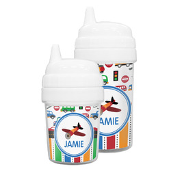 Transportation & Stripes Sippy Cup (Personalized)