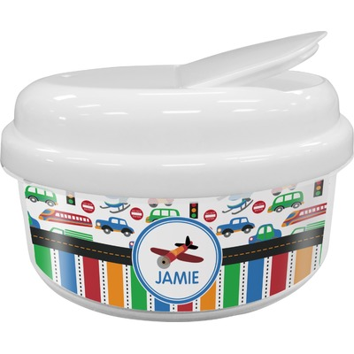 Transportation & Stripes Snack Container (Personalized)