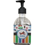 Transportation & Stripes Soap/Lotion Dispenser (Glass) (Personalized)
