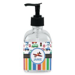 Transportation & Stripes Soap/Lotion Dispenser (Glass) (Personalized)