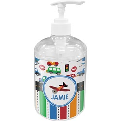 Transportation & Stripes Soap / Lotion Dispenser (Personalized)