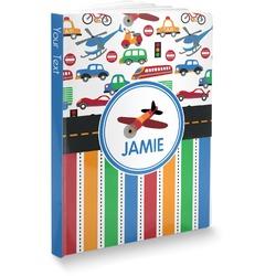 Transportation & Stripes Softbound Notebook (Personalized)