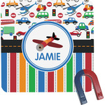 Transportation & Stripes Square Fridge Magnet (Personalized)