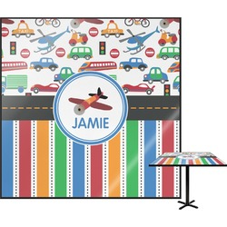 Transportation & Stripes Square Table Top (Personalized)