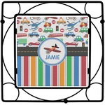 Transportation & Stripes Square Trivet (Personalized)