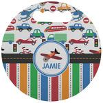 Transportation & Stripes Stadium Cushion (Round) (Personalized)