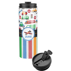 Transportation & Stripes Stainless Steel Tumbler (Personalized)