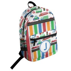 Transportation & Stripes Student Backpack (Personalized)