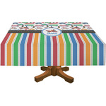Transportation & Stripes Rectangle Tablecloth (Personalized)