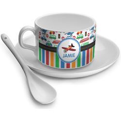 Transportation & Stripes Tea Cup - Single (Personalized)