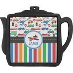 Transportation & Stripes Teapot Trivet (Personalized)