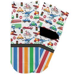 Transportation & Stripes Toddler Ankle Socks (Personalized)