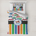 Transportation & Stripes Toddler Bedding w/ Name or Text