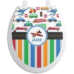 Transportation & Stripes Toilet Seat Decal (Personalized)