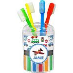Transportation & Stripes Toothbrush Holder (Personalized)