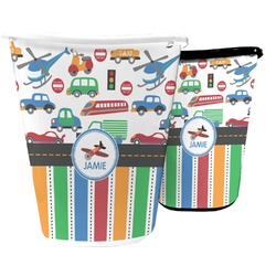 Transportation & Stripes Waste Basket (Personalized)