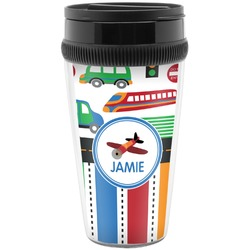 Transportation & Stripes Travel Mugs (Personalized)