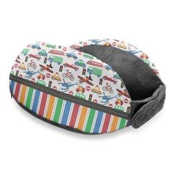 Transportation & Stripes Travel Neck Pillow (Personalized)