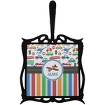 Transportation & Stripes Trivet with Handle (Personalized)