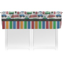 Transportation & Stripes Valance (Personalized)