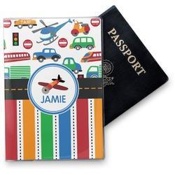 Transportation & Stripes Vinyl Passport Holder (Personalized)