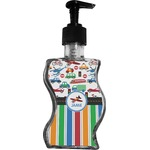 Transportation & Stripes Wave Bottle Soap / Lotion Dispenser (Personalized)