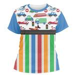 Transportation & Stripes Women's Crew T-Shirt (Personalized)