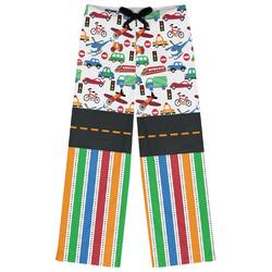 Transportation & Stripes Womens Pajama Pants (Personalized)