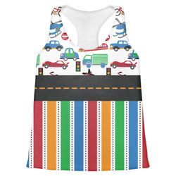Transportation & Stripes Womens Racerback Tank Top (Personalized)