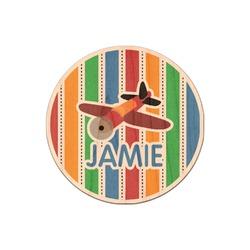 Transportation & Stripes Genuine Wood Sticker (Personalized)