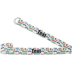 Transportation & Stripes Yoga Strap (Personalized)