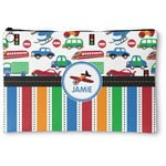 Transportation & Stripes Zipper Pouch (Personalized)