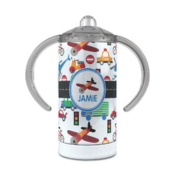 Transportation 12 oz Stainless Steel Sippy Cup (Personalized)