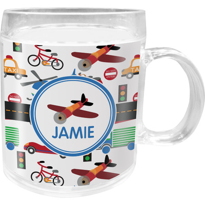 Transportation Acrylic Kids Mug (Personalized)
