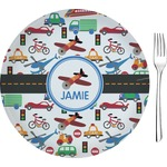 Transportation Glass Appetizer / Dessert Plates 8