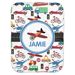Transportation Baby Swaddling Blanket (Personalized)