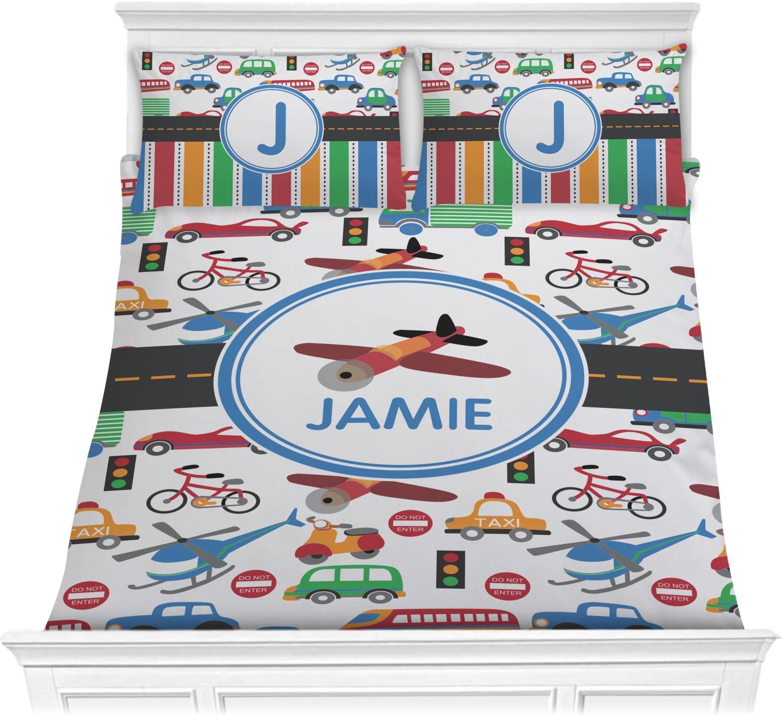 Transportation Comforter Set - Full / Queen (Personalized ...