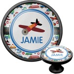Transportation Cabinet Knob (Black) (Personalized)
