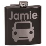 Transportation Black Flask (Personalized)