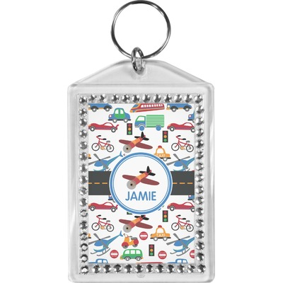 Transportation Bling Keychain (Personalized)